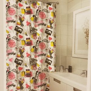 Shower curtains Shop Chic design  pink black